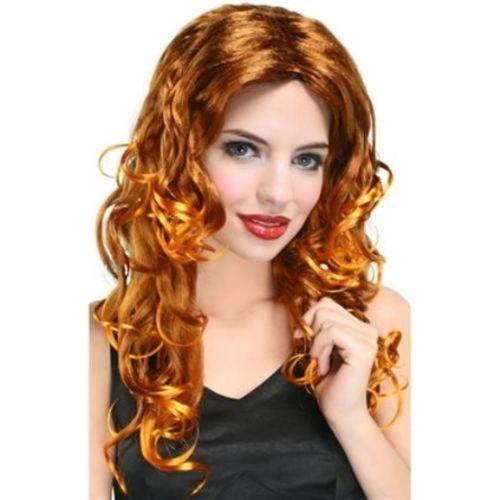 Light Auburn Wavy Shoulder Length Fancy Dress Adult Glamour Wig