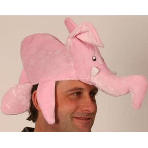 Fancy Dress Elephant Hat Pink Animal Hat