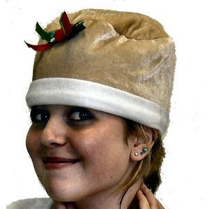 Holly Pudding Hat (Beige)