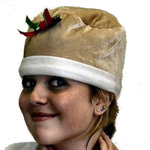 Holly christmas pudding hat