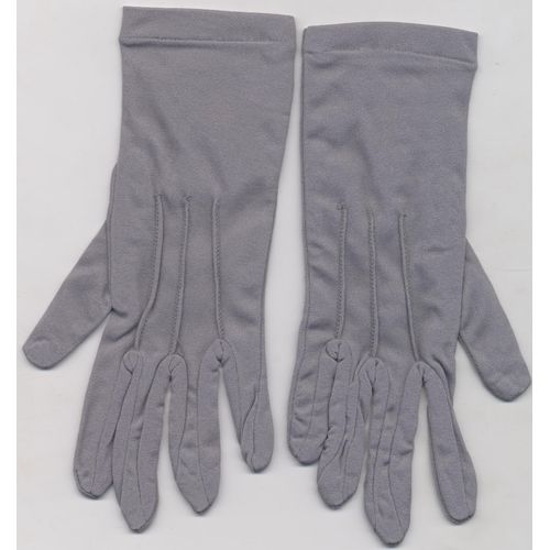 Grey Nylon Gloves Fancy Dress Costume Accessory