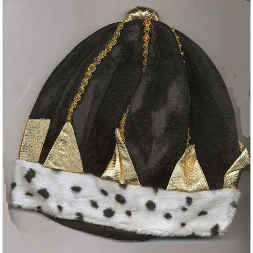 Black Velour Full Crown Fancy Dress Hat