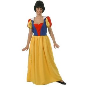 Long Snow White Dress With Red Bodice Size 12-14