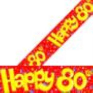 Happy 80th Banner