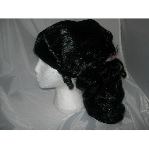 Fancy Dress High Pony Tail Pop Star 1950s 50s Black Wig