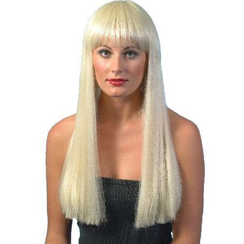 Fancy Dress Adult Long Straight Blonde Abba Cher 1970s 70s Pop Star