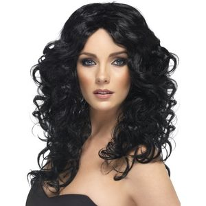 Glamour Long Wavy Wig (Black)