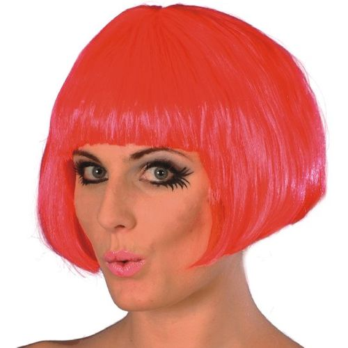 Fancy Dress Short Bob Babe Wig Fuchsia
