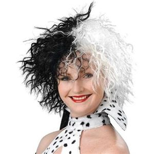 Dog Loving Diva Black & White Wig