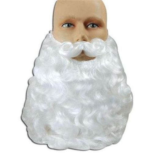 White Father Christmas Beard Fancy Dress Costume Accessory