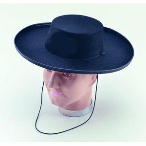 Fancy Dress Zorro Hat Deluxe (Black)