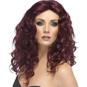 Glamour Long Wavy Wig (Burgundy)