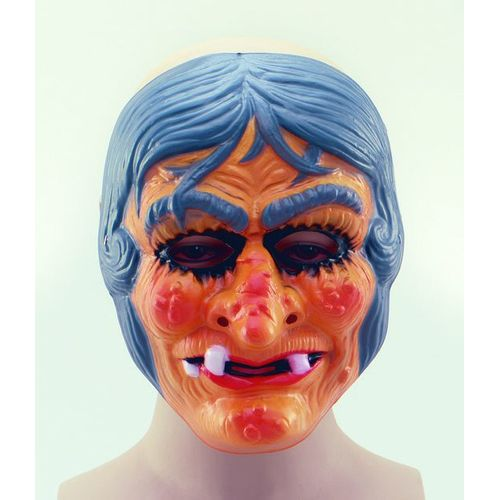 fancy dress and halloween Witch horror Plastic face Mask