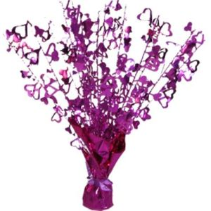 Foil Heart Balloon Weight Centrepiece (Pink)