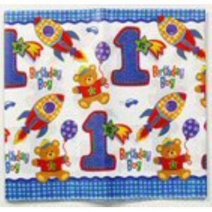 1st Birthday Boy Paper Table Cover 137cm x 259cm