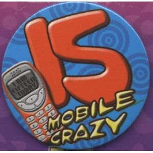 15 Mobile Crazy Birthday Badge