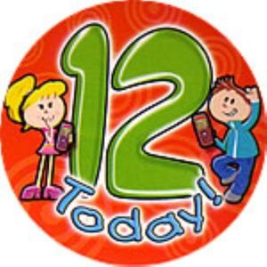 12 Today Birthday Badge (Orange)