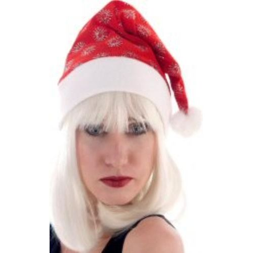 Glitter Snowflake santa Christmas Hat