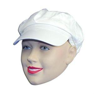 Shiny PVC Hat (White)