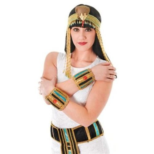 Egyptian Wristbands Fancy Dress Costume Accessory