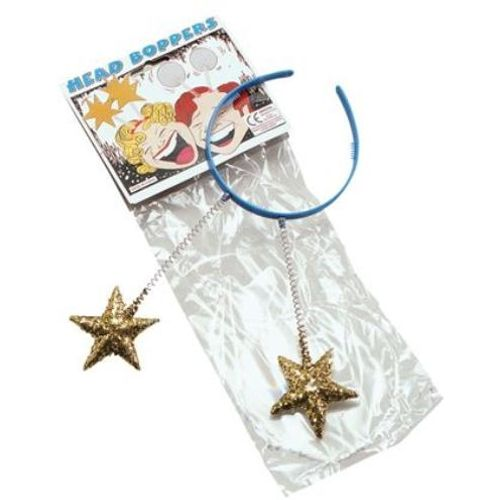 Fancy Dress Adult Gold Star Hen Christmas Head Band Boppers