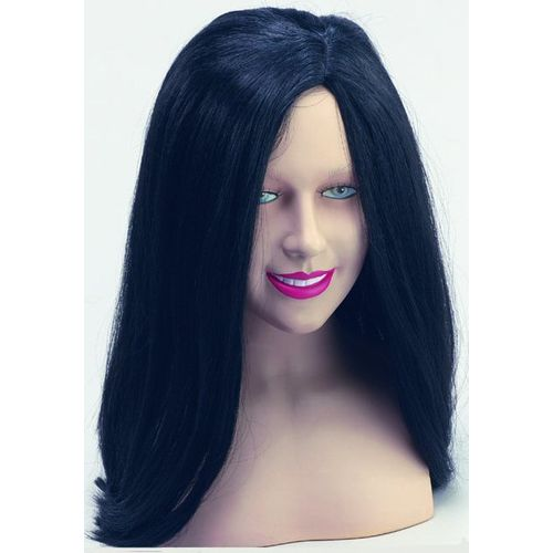 Black Gothic Fancy Dress Wig Halloween Costume Accessory