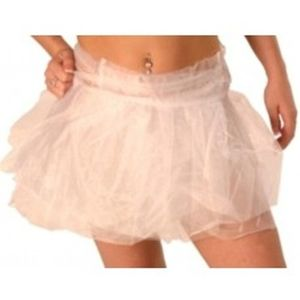 "Tutu - Tie On - Fits Up To 44"" Waist (White)"