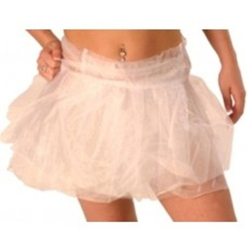 """White Tutu - Tie On Fits Up To 44"""" Waist Fancy Dress Costume Accessory"""