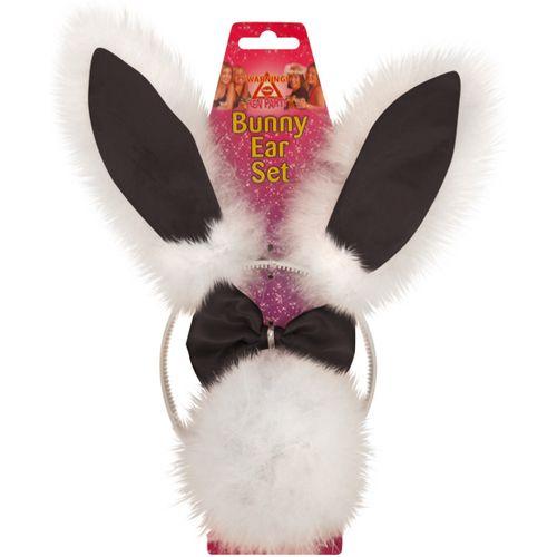 Bunny Girl Set - Headband Bow Tie & Tail Fancy Dress & Hen Night Accesory