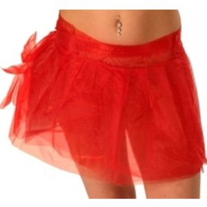 "Tutu - Tie On - Fits Up To 44"" Waist (Red)"