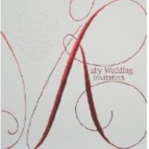 Ruby Wedding  Invitations & Envelopes 6 Pack