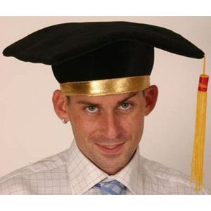 Fancy Dress Graduation Plush Mortar Board Hat