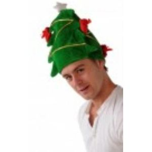 Plush Decorated Christmas Tree Hat