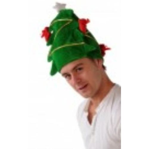 decorated christmas tree hat