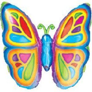 "Super Shape Butterfly Foil Balloon 25"" x 25"""
