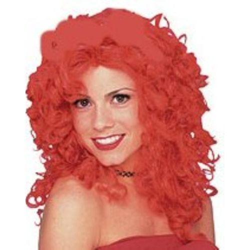 Red Wavy Shoulder Length Fancy Dress Adult Glamour Wig