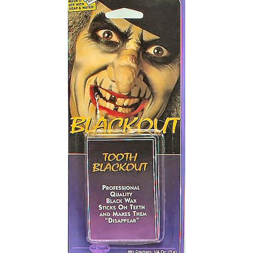 Black Tooth Wax Halloween Horror Make Up