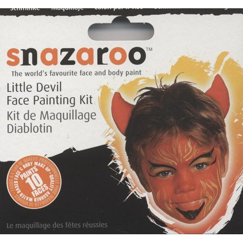 Fancy Dress And Halloween Make Up Little Devil Face Painting Kit