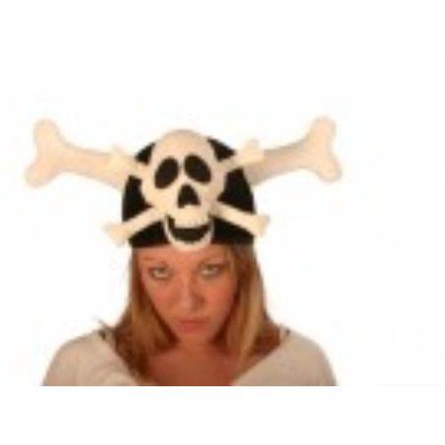 Fancy Dress And Halloween Skull & Cross Bone Hat Adult
