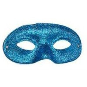 Glitter Domino Eye Mask (Blue)