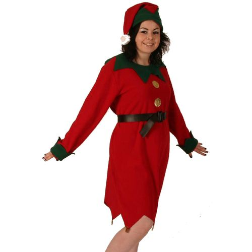 Ladies Elf Suit One Size Fits Most (12-16) Christmas Fancy Dress Costume