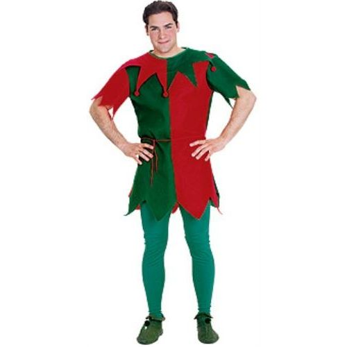 "Unisex Elf Tunic To Fit Up To Chest 52"" Christmas Fancy Dress"