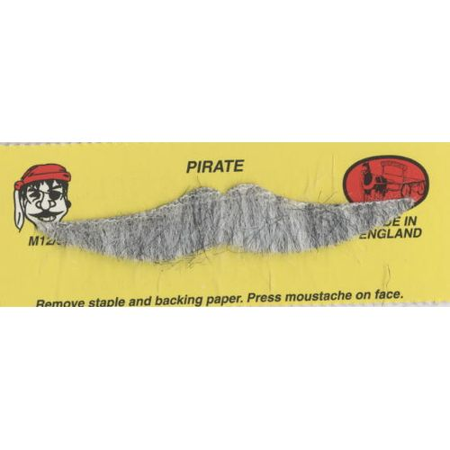 Character Moustache Pirate Grey fancy dress self adhesive facial hair