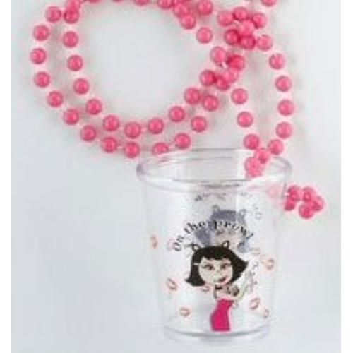 Shot Glass Necklace - On The Prowl Hen Party Decoration