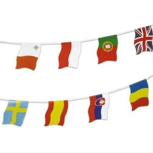 party Bunting-European Flags