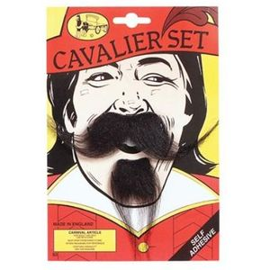 Cavalier Musketeer Moustache & Beard Set