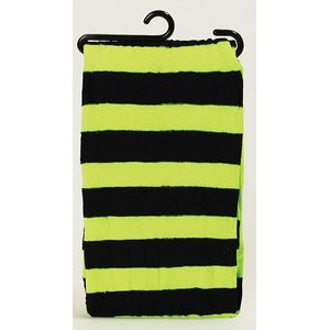Nylon Tights (Neon Green & Black Striped)