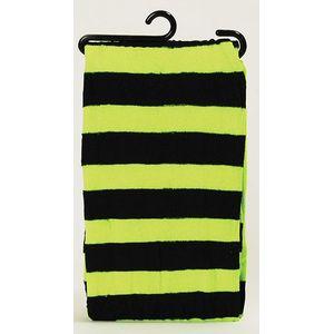 Nylon Tights (Neon Green & Black Striped)