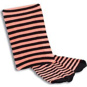 Nylon Tights (Orange & Black Striped)