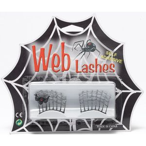 Spider Web Eye Lashes Self Adhesive (Silver)